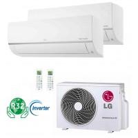 aire acondicionado Multisplit 2x1 inverter marca LG